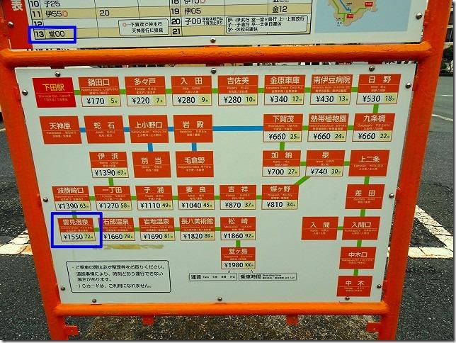 伊豆急下田駅(静岡県 下田市から雲見温泉(静岡県 松崎町)